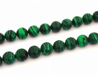 Malachite Round Beads 8mm 16 Inch